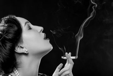 woman smoking joint